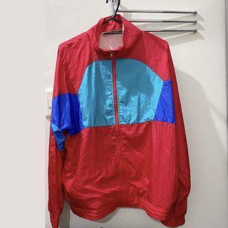 Oversized Vintage Retro Color block Jacket Windbreaker Parka Sweater Longsleeves
