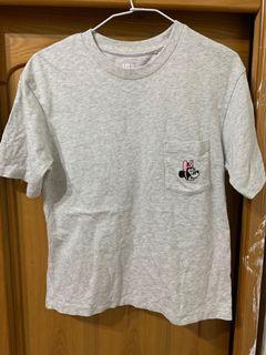 Uniqlo 米妮 迪士尼聯名 短袖T 寬版上衣 前面真口袋  被面有圖案 #集氣