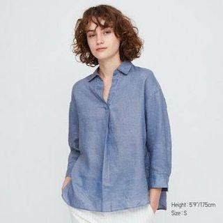 Repriced!!! Uniqlo Linen 3/4 Sleeves Top