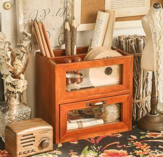 zakka風格 有抽屜的小木盒