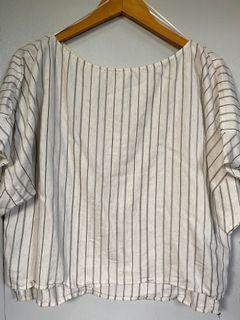 Zara Striped Boxy Linen Top