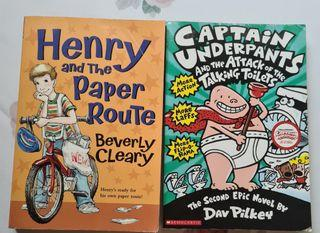 2 Books Capt. Underpants & Henry