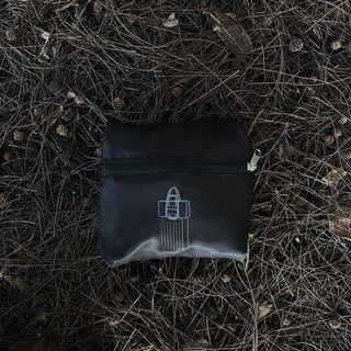🇺🇸 環保購物袋 輕便旅行袋 可插行李箱拉桿 黑色 旅行袋 輕便 可收納旅行袋