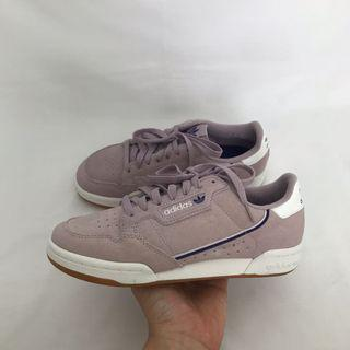 Adidas Continental 80s lilac violet gum sneakers not nike vans converse