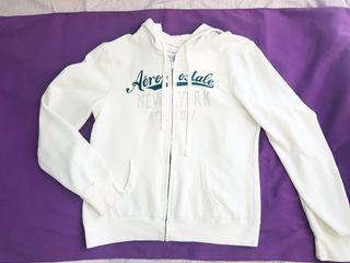 Aeropostale white full zip hoodie