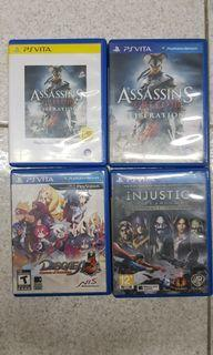 Assorted PS Vita games for sale