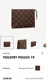 Authentic LV pouch 19/like new