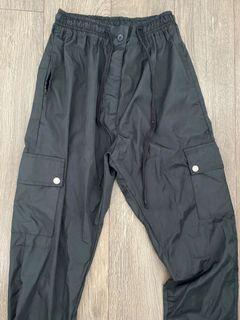 Black Missguided windbreaker pants