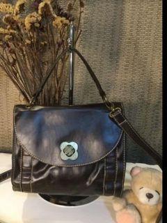 Brown Smooth Leather Handbag/Slingbag