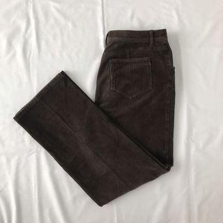 Corduroy pants dark brown