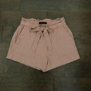 Dynamite Blush Tie-Shorts
