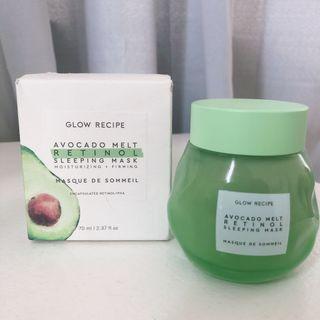 FULL SIZE - Glow Recipe Avocado Melt Retinol Sleeping Face Mask - 70ml Skin Care