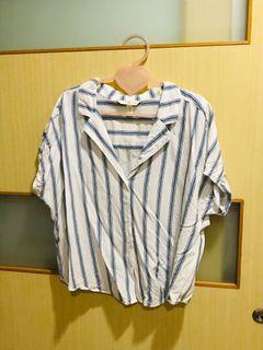 H&M 條紋棉襯衫