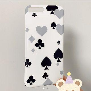 iphone 7 & 8 plus glossy phone case, deck of cards/suits design
