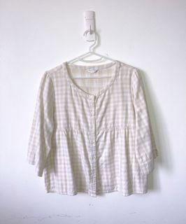 Japanese Gingham Top