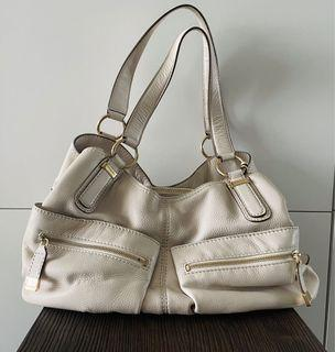 Leather ivory MK shoulder bag/great condition