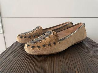 Leather loafers/size 36/great condition