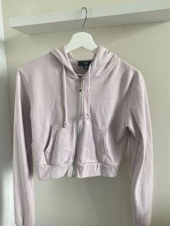 Light Purple Missguided Cropped Hoodie