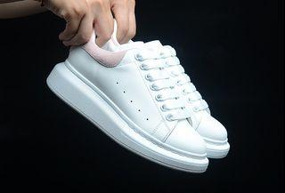 Luxury Alexander McQueen Sneakers White/Pink Women Size EUR35-40 With box