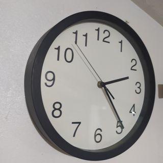 Minimalist Black Wall Clock
