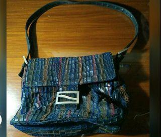 multicolored shoulder bag