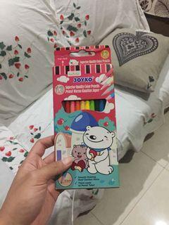 Pensil Warna merk JOYKO Isi 12. Besar ukuran