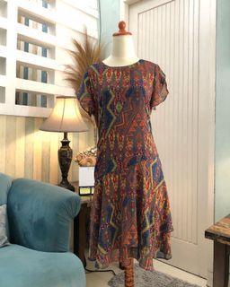 Sifon motif dress