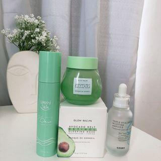 Skincare bundle 😵 Glow Recipe, Cosrx, Happy Skin