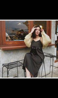 sueter cloth oversize crop cardigan creme