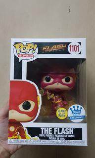 The Flash GITD Funko Shop Exclusive with 0.5mm Protector