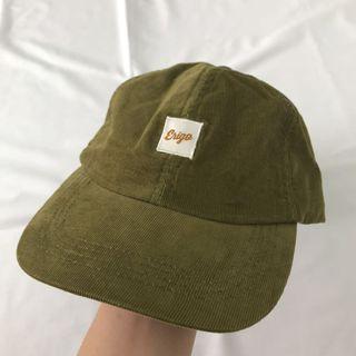 Topi Corduroy Cap erigo green
