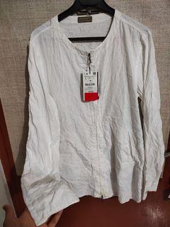 Zara man Embroidery shirt with zipper