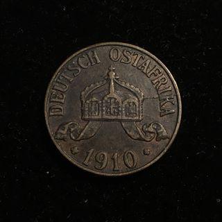 1910J German East Africa 1 Heller