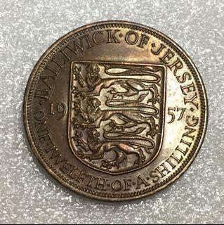 1957 Jersey 1/12 Shilling- Elizabeth II