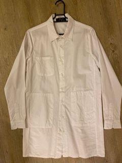 韓版長版白色襯衫外套(二手)