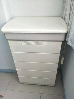 大慶二手家具 白色六抽收納櫃/餐櫃/收納櫃/置物櫃/書櫃/鞋櫃