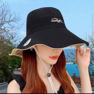 【鬼夢網生活館】小雛菊雙面戴大帽沿漁夫帽 A51