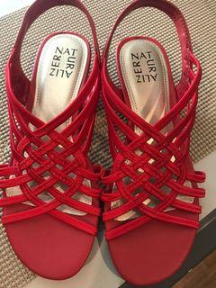 💯% Authentic Naturalizer Red Sandals 😍😍😍