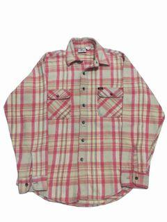 🔥 Kemeja Prentiss Outdoors Garments Pink Plaid Flannel 🔥