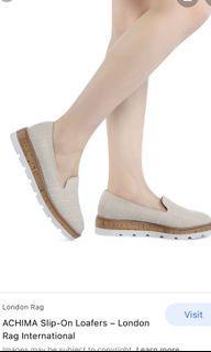 Auth💯 LONDON RAG Beige Loafers VERSATILE