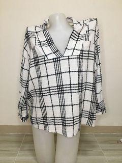 checkered blouse XXl