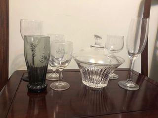Crystal bowl and wine glass 水晶碗及酒杯