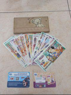 Dompet Anak Perempuan Milk Teddy Cokelat/Teddy Bear + Uang Mainan Preloved Murah