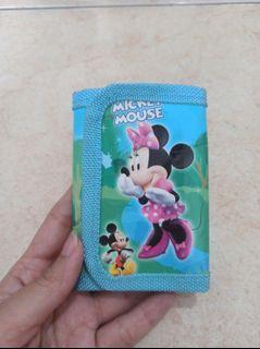 Dompet Mainan Anak Perempuan Mickey Minnie Mouse Biru Preloved Murah