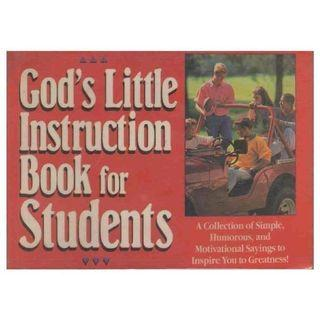 God's Little Instruction Book For Students Christian Guide Church Daily Bread Quote Scripture Religious Christianity