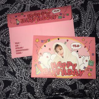 Itzy Yeji Birthday Card