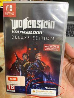 Nintendo switch wolfenstein Youngblood (Deluxe edition)