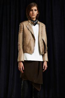 Phillip Lim 3.1 pre-fall 2014 Twofer Olive Brown dress with tank