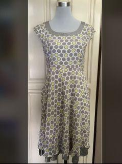 Polka Dot Grey/Yellow Dress