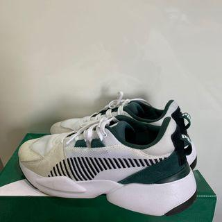 Puma 泫雅代言款 老爹鞋 增高 休閒鞋 灰白綠配色 26.5cm Us8.5
